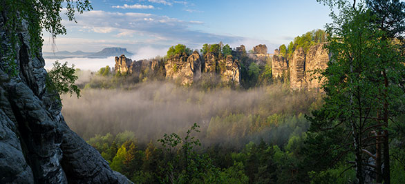 Saxon Switzerland Bastei massif